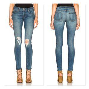 "Rag & Bone jeans 27 ""Skinny"" distressed carmine"
